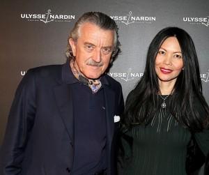Dieter Meier con il presidente di Ulysse Nardin, M.me Chai Schnyder