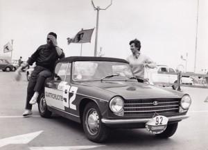 La coppia Sutti-Introna a Eva al volante a Rimini
