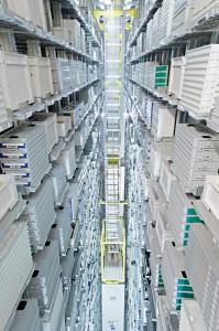 Il magazzino automatizzato a Bienne