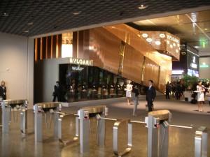 Lo stand di Bulgari all'ingresso dei Baselworld