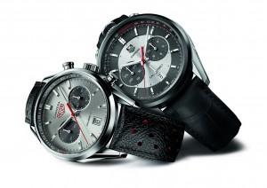 CAR2C11 and CV2119 TAG HEUER CARRERA JACK HEUER EDITIONS 2012 AND 2013 MOOD PACKSHOT ON WHITE BACKGROUND