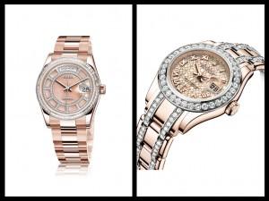 Rolex Day-date serti e Lady Datejust
