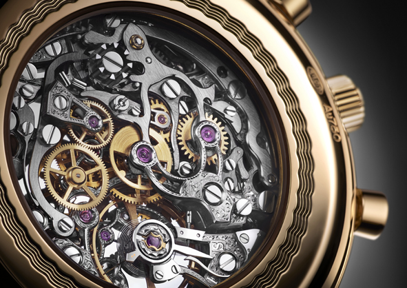 Il movimento del cronografo Breguet che è stato inciso per Only Watch
