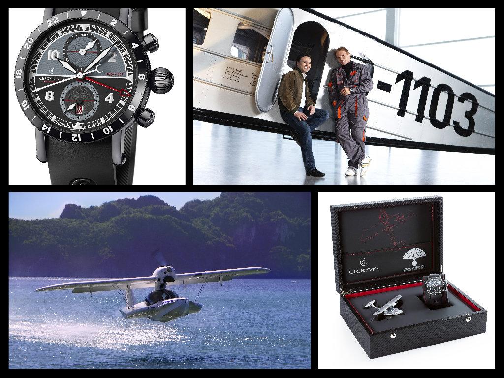 Chronosiww, il Timemaster GMT e il CEO della Marca con Iren Dornier sul Ray007