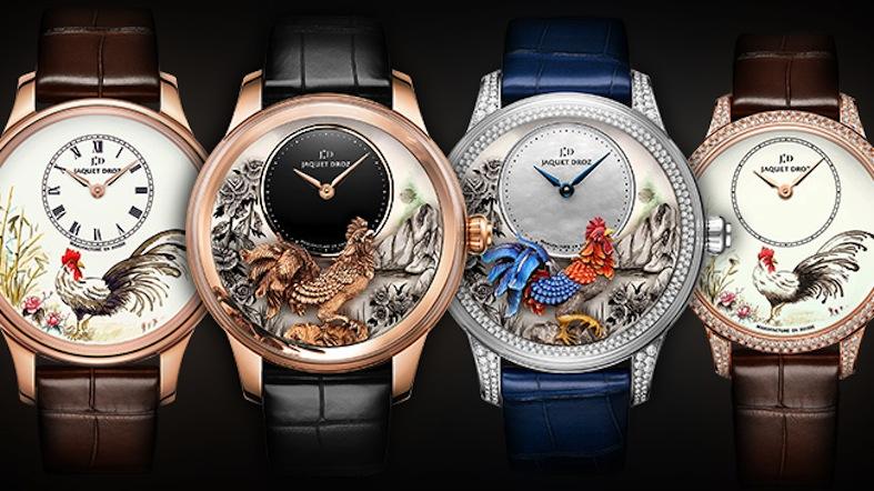 o qiattro orologi dedicati all'anno del gallo