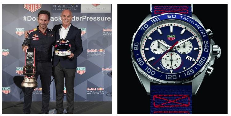 ==== e l'orologio che TAG Heuer ha dedicato al Team di F1