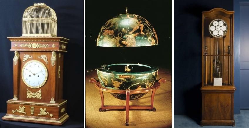 la pendola Jaquet Droz, il planetario di e il