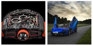 Il Richard Mille RM50-03 e la McLaren spider